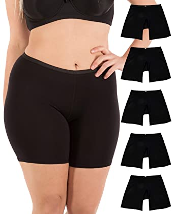 16fa96957 B2BODY Women s Regular   Plus Size Stretch Cotton Long Leg 6.5 quot   Boyshort Briefs (XXXX