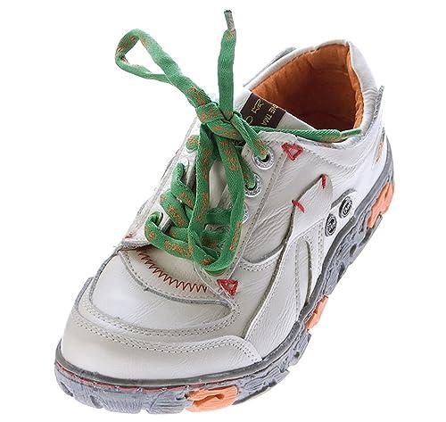 TMA Comfort Damen Sneakers Leder Schuhe Schwarz Grün Weiß Gelb Turnschuhe Schnürer Halbschuhe