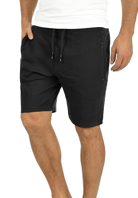 Yidarton Men's Sports Shorts Casual Fit Elastic Jogger Gym Short with Pockets(bk,XL)