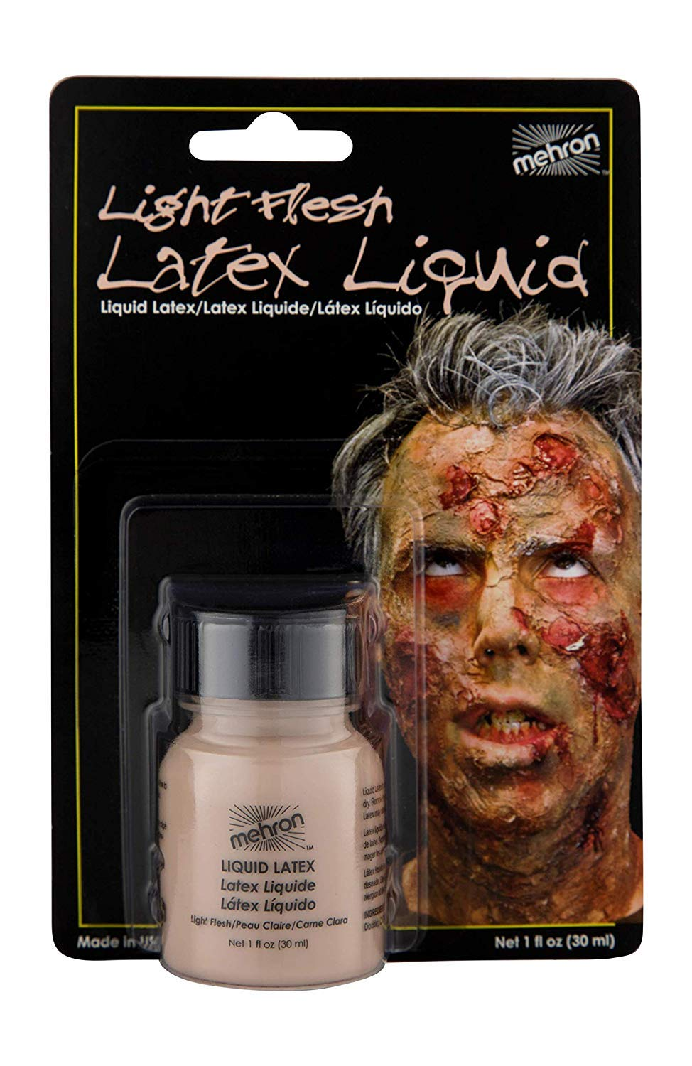 Mehron Makeup Liquid Latex (1 oz) (Light Flesh)