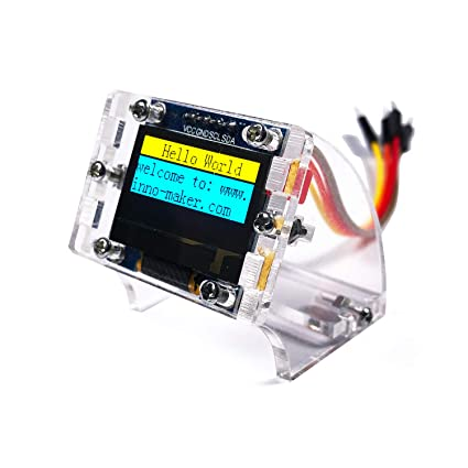 0 96 Inch I2C IIC Serial 128x64 OLED Module LCD Display 4 Pin Font Color  Yellow&Blue for Raspberry Pi Zero, Zero W, 3B, 3B+, STM32, Arduino,