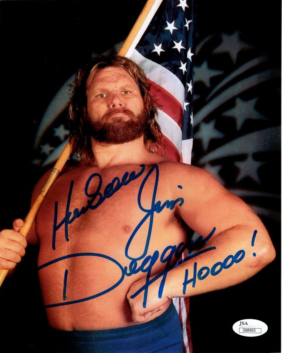 Hacksaw Jim Duggan WWE Autographed/Signed 8x10 Photo Inscribed JSA 135487