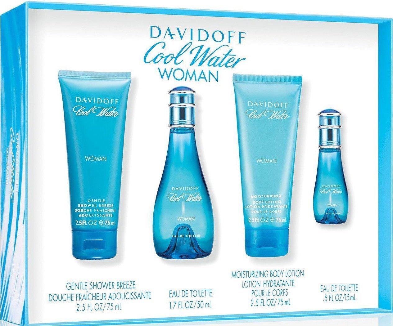 Davidoff Cool Water 4 Piece Eau De Parfums Set for Women
