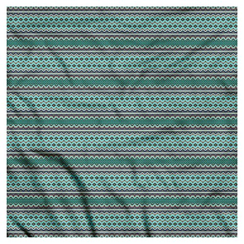 Ambesonne Unisex Bandana, Bohemian Traditional Aztec Art, Teal Green