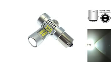TMT Leds(TM) 2 X Bombillas LED BAY15D 1157 P21/5W CANBUS 21