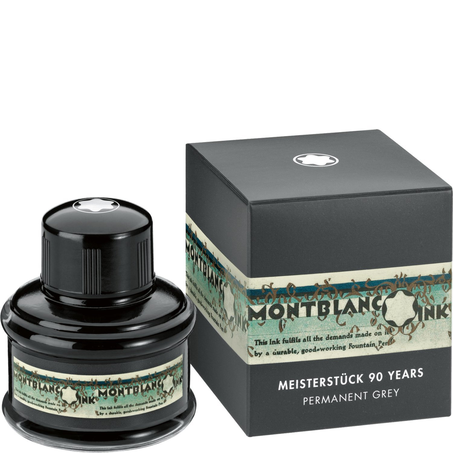 Montblanc Meisterstück 90 Years Permanent Grey Ink Bottle - 35ml by MONTBLANC (Image #1)