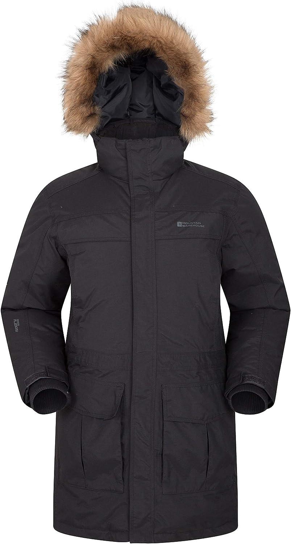 Mountain Warehouse Chaqueta Antarctic Extreme Down para Hombre - Cintura Ajustable, Abrigo Impermeable, Abrigo Transpirable y de Secado rápido para Hombre