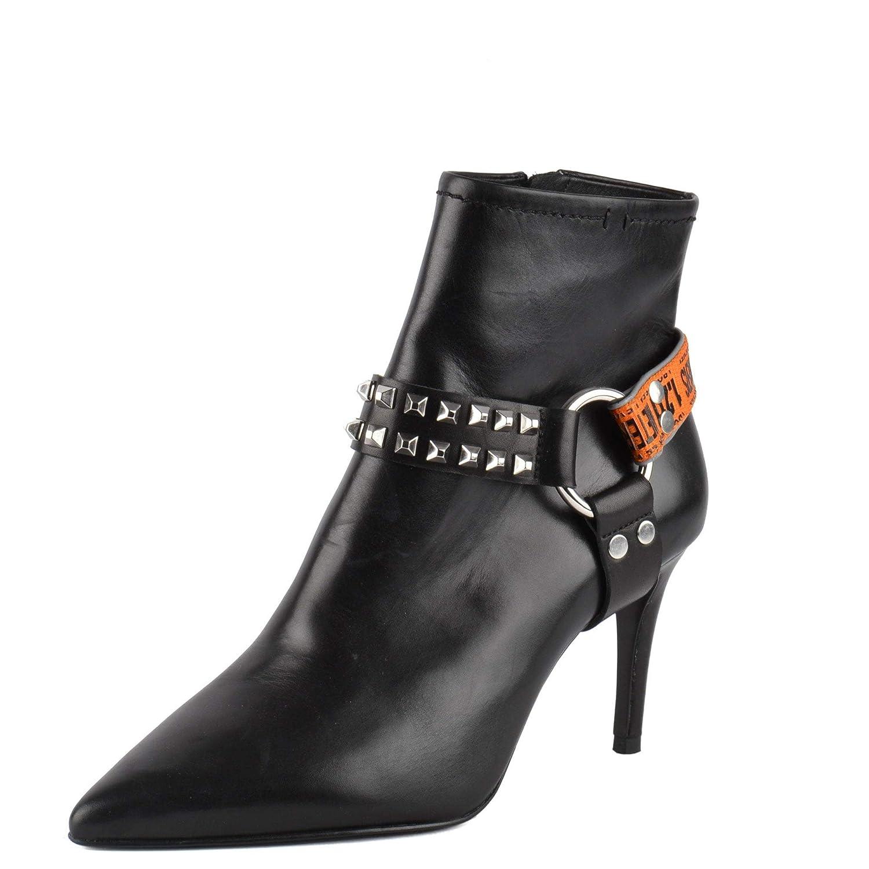 Ash Britney Botines Arnés Botas Cuero Negro: Amazon.es: Zapatos y ...