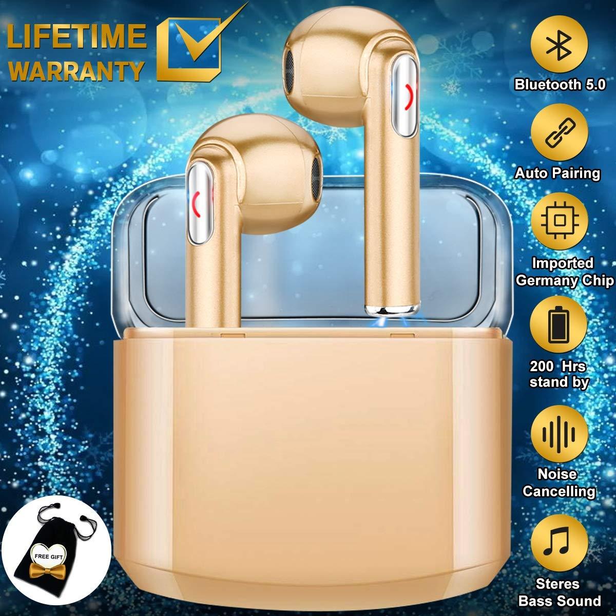 ワイヤレスイヤホン 充電ケース付き Bluetoothイヤホン DF1 (ホワイト4) B07QWL1X4X
