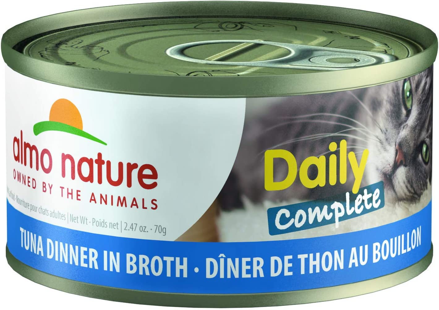 almo nature HQS Daily Complete Natural Grain Free Wet Cat Food (Pack of 24 x 2.47 Ounce/70 Grams)
