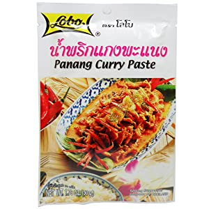Lobo Panang Curry Paste 50 G (1.76 Oz) Thai Herbal Food X 2 Bags