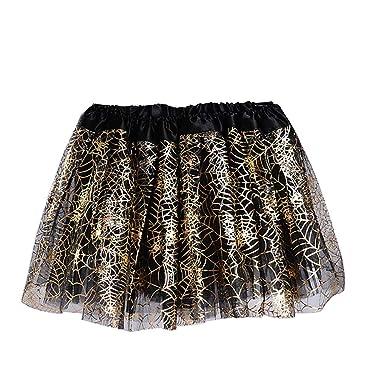 Niños niñas tutú falda baile negro Glitter Tutu Falda con araña ...