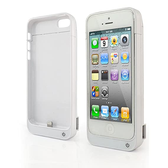 check out 34a6b f68a4 4200mAh for iPhone 5 5s 5c External Battery Backup Charger Case Pack Power  Bank - White