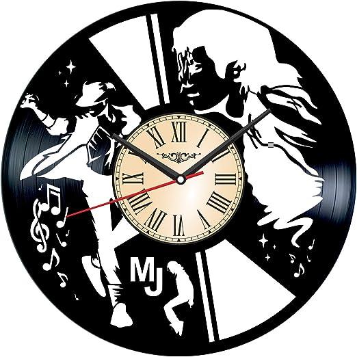 Michael Jackson Vinyl Clock Music Home Decor Retro Artwork Decal Birthday Gift