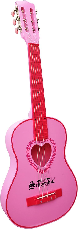 Pink Schoenhut Acoustic Guitar