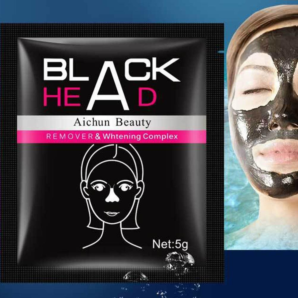 Black Mud Face Mask, TONSEE Black Mud Deep Cleansing Purifying Peel Off Facail Face Mask