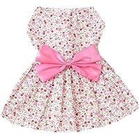 Mumoo Bear Princess Floral Pet Dress, Pink, Small, Dr-01