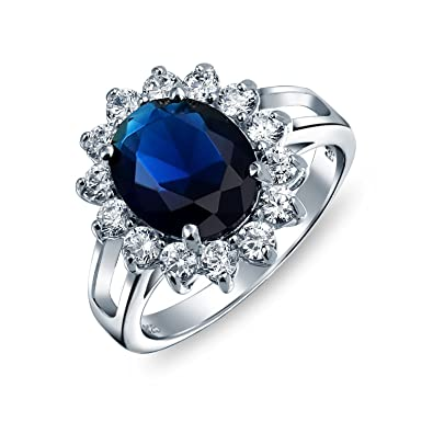 Fine Jewelry Bright Blue Sapphire Diamond Golden Ring Engagement/wedding/anniversary/valentine Evident Effect Other Fine Rings