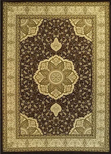Elegance Persian Style Traditional Area Rug Design 206 Chocolate 8 Feet x 10 Feet 6 Inch