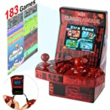 "Symfury Mini Arcade Game Kids 183 Video Game Handheld Retro Machine 2 Joystick for Boys Adults Family 2.8"" 16 Bit Classic Basketball with Games Download Toys Portable for Travel (New Battle Version)"