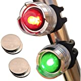Bright Eyes Green & Red Aluminum Portable Marine LED Boating Lights - Boat Bow or Stern Emergency Backup Safety Lights…