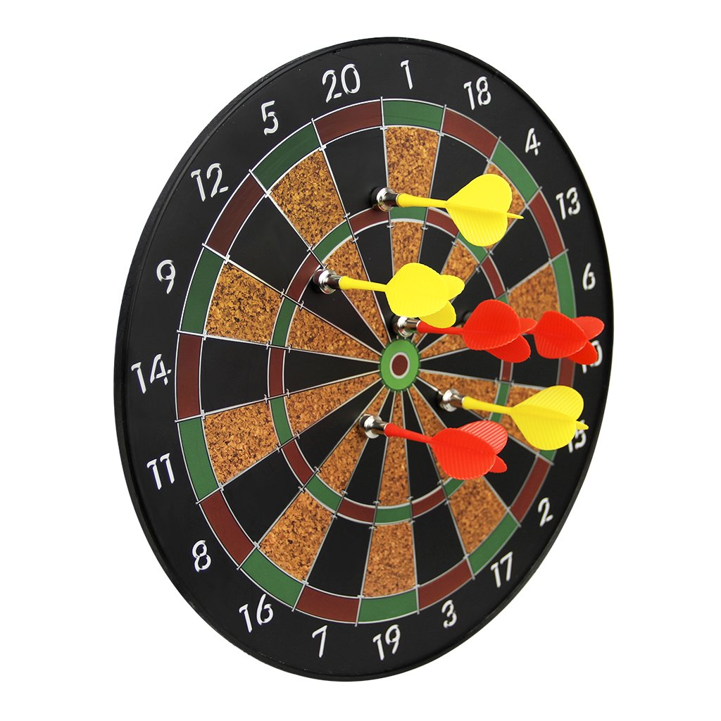 BXT Magnetic Score Dartboard Kit - Safety Dartboard with 6 Soft Darts,Family Indoor&Outdoor Fun Games,Birthday for Children Adults