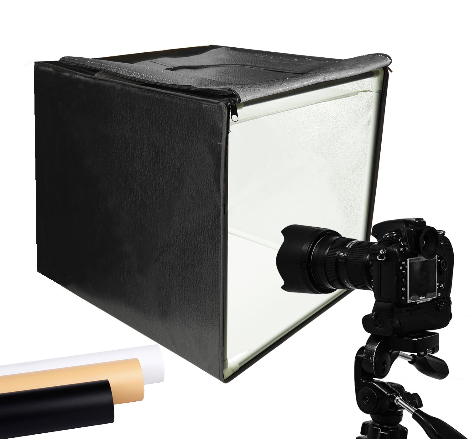 Finnhomy Professional Portable Photo Studio Photo Light Studio Photo Tent Light box Table Top Photography Shooting Tent Box Lighting Kit, 16'' x 16'' Cube by Finnhomy