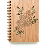 Ranunculus Laser Cut Wood Journal (Notebook / Women / To Write In / Handmade)
