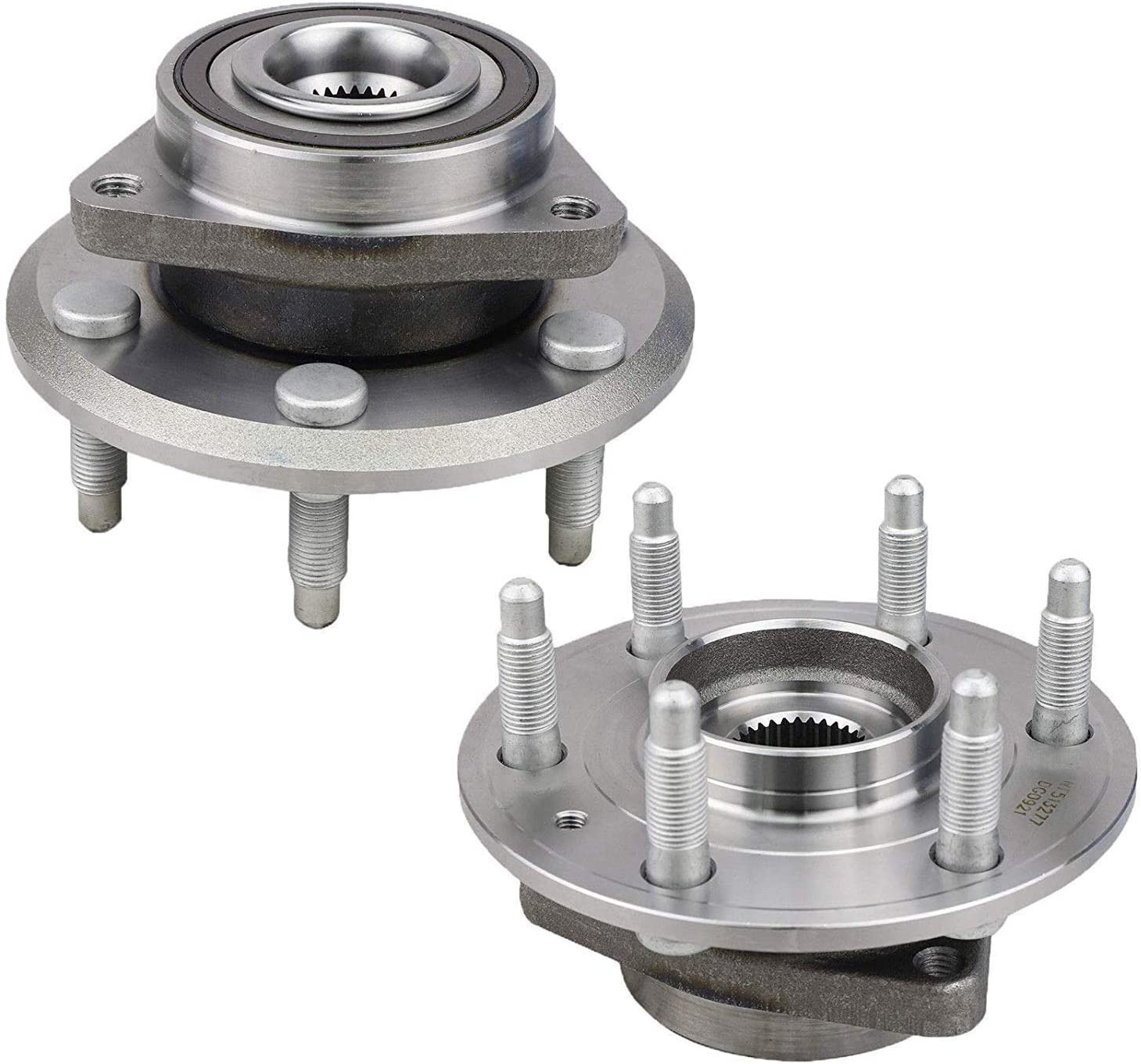 Bodeman 2 Pair Front Wheel Hub and Bearing Assembly for 2007-2016 GMC Acadia// 2008-2017 Buick Enclave // 2007-2010 Saturn Outlook // 2009-2017 Chevy Traverse