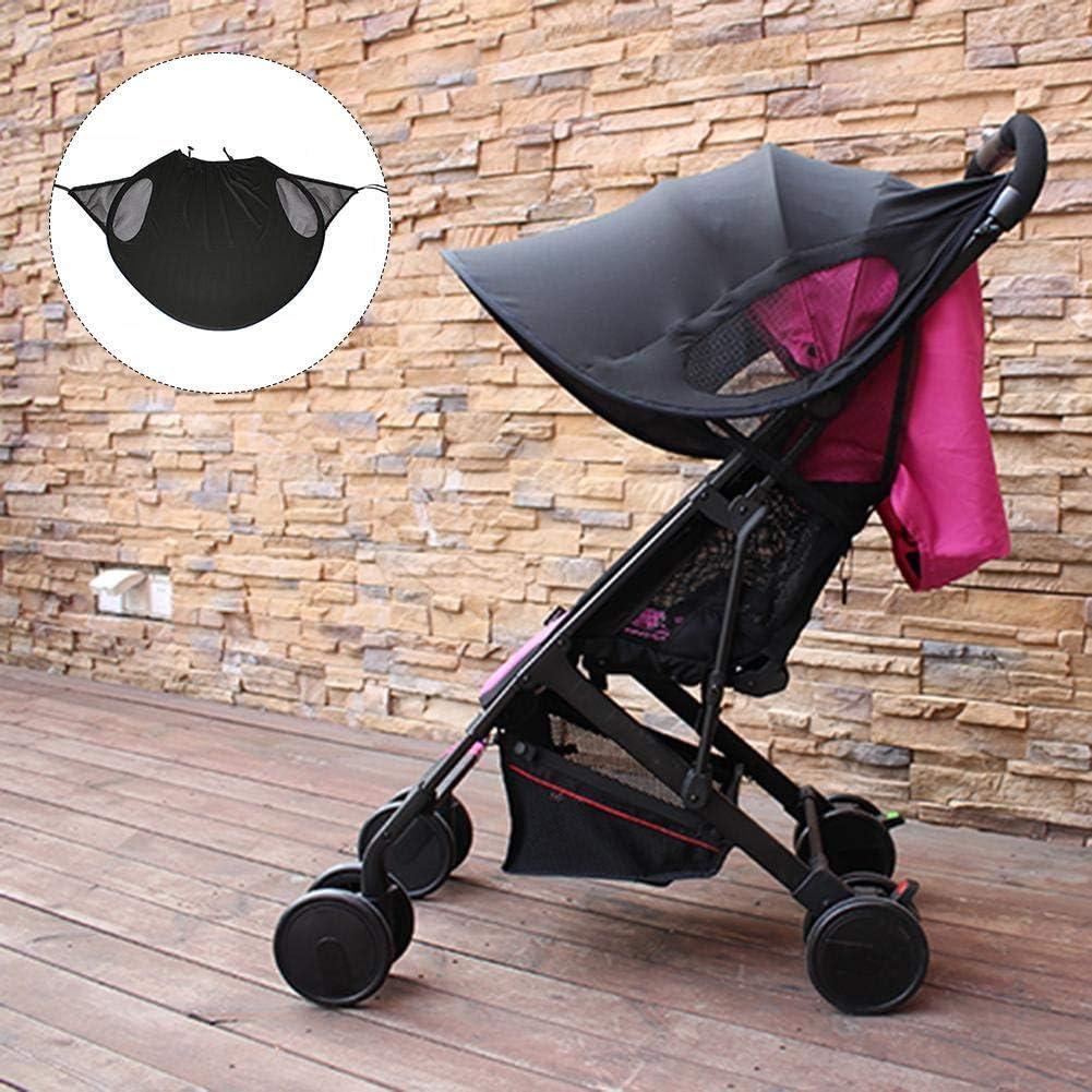 Parapluie Poussette Anti-UV Moustiquaire Auvent Pliable Poussette Parasol Poussette B/éb/é Amovible Portable pour B/éb/é Basisago Poussette Pare-Soleil Moustiquaire