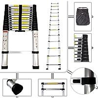 Todeco - Echelle Telescopique, Échelle Pliable - Charge maximale: 150 kg - Standards/Certifications: EN131 - 3,8 mètre(s), Sac de transport OFFERT, EN 131