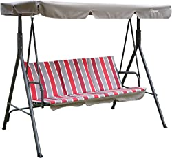 Alicia Patio Swing Chair with 3 Comfortable