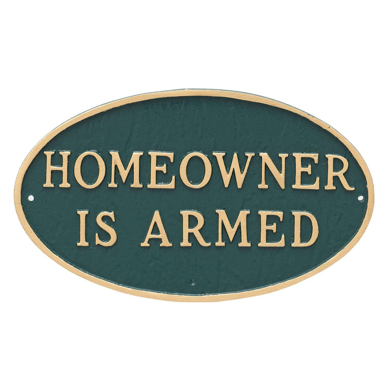 モンタギュー金属製品HomeownerはArmed Oval Wall Plaque 8.5