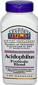 21st Century Acidophilus Probiotic Blend Capsules, 150 Count
