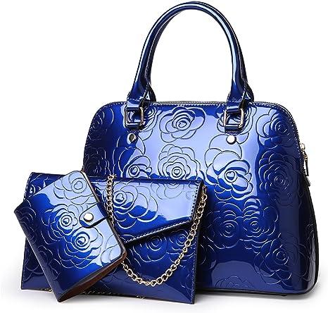 Tisdaini/® Sacs port/és Main Femme Tendance Grande capacite Cabas Sacs port/és /épaule Sacs bandouli/ère Sac a Main Bleu
