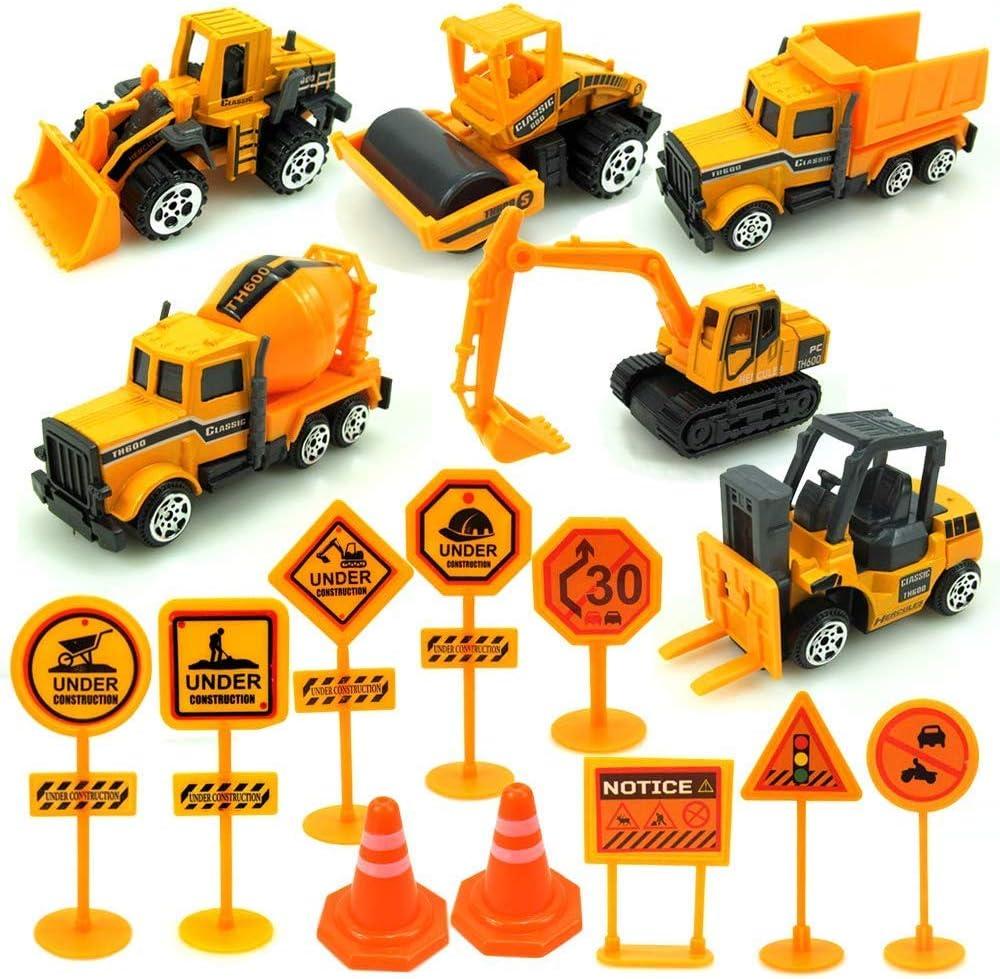 Desmontar Camiones Grandes de Juguete, Construcción Vehículos Excavadora Tractor de Juguete con Herramientas para Niño y Niña