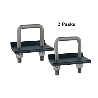 TOPTOW 64707 Trailer Hitch Tightener Anti Rattle Clamp for 1.25 Inch and 2 Inch Receiver Hitches, Black Aluminum Stabilizer Plate, 2 Packs: Automotive [5Bkhe1506677]