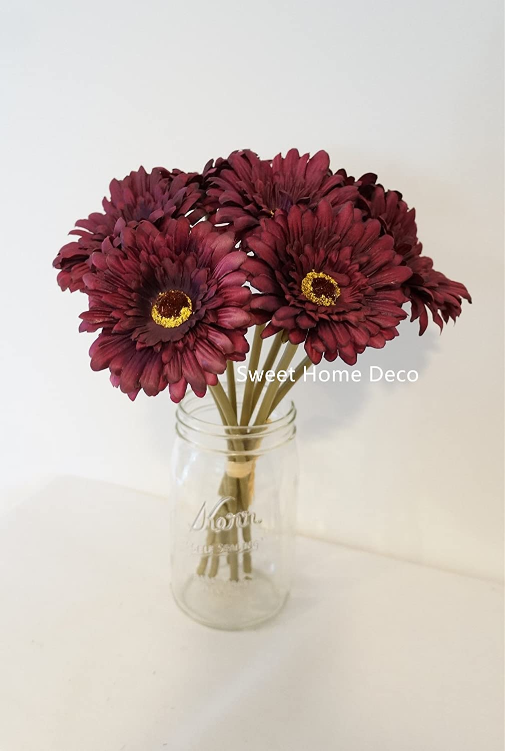 Amazon Sweet Home Deco 13 Silk Artificial Gerbera Daisy