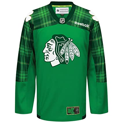 official photos f0448 cfb11 Chicago Blackhawks Reebok St. Patricks Day Jersey
