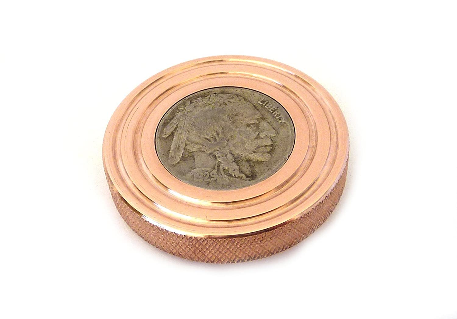 THE FLATTOP - COPPER BUFFALO HANDMADE EDC SPINNING TOP - MADE IN ...