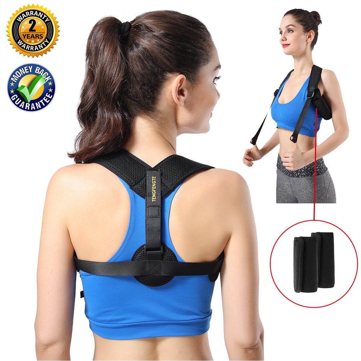 Posture Corrector for Women Men- Back Brace Posture Corrector Effective and Comfortable Adjustable - Posture Braces - Breathable Posture under Clothes   Support - Back Brace - Back Straightener