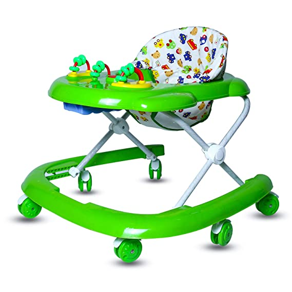 GoodLuck Baybee Galaxy Round Baby Walker for Kids with 3 Position Height Adjustable Kids Walker,Fun Toys & Activities for Babies/Childs (6 Months to 2 Years) (Green)