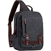 "WOWBOX Sling Bag for Men Women Sling Backpack Laptop Shoulder Bag Cross Body Messenger Bag Fit 13.3"" 15.6"" Laptop Tablet"