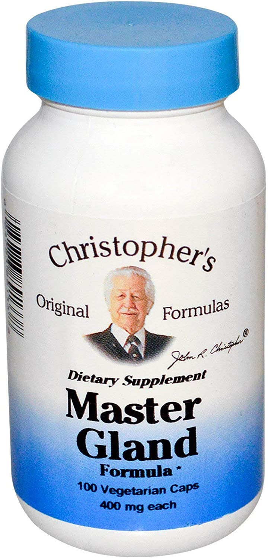 Christopher's Original Formulas Master Gland Formula, 400 mg, 100 Vegetarian Caps