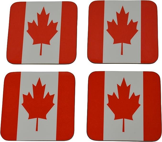 Canada Flag Drink Coaster Set