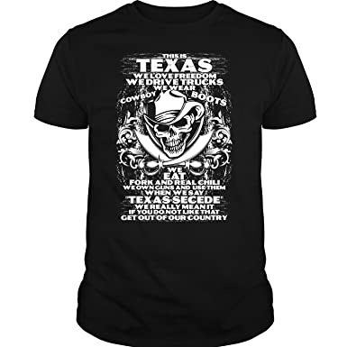 44005096925d Amazon.com  This is Texas T Shirt
