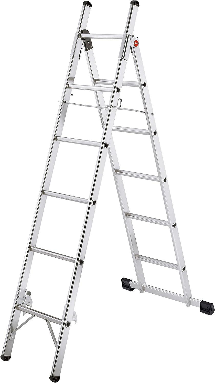 Hailo L80 - Escalera doméstica multiposición de aluminio (6+5 peldaños): Amazon.es: Bricolaje y herramientas