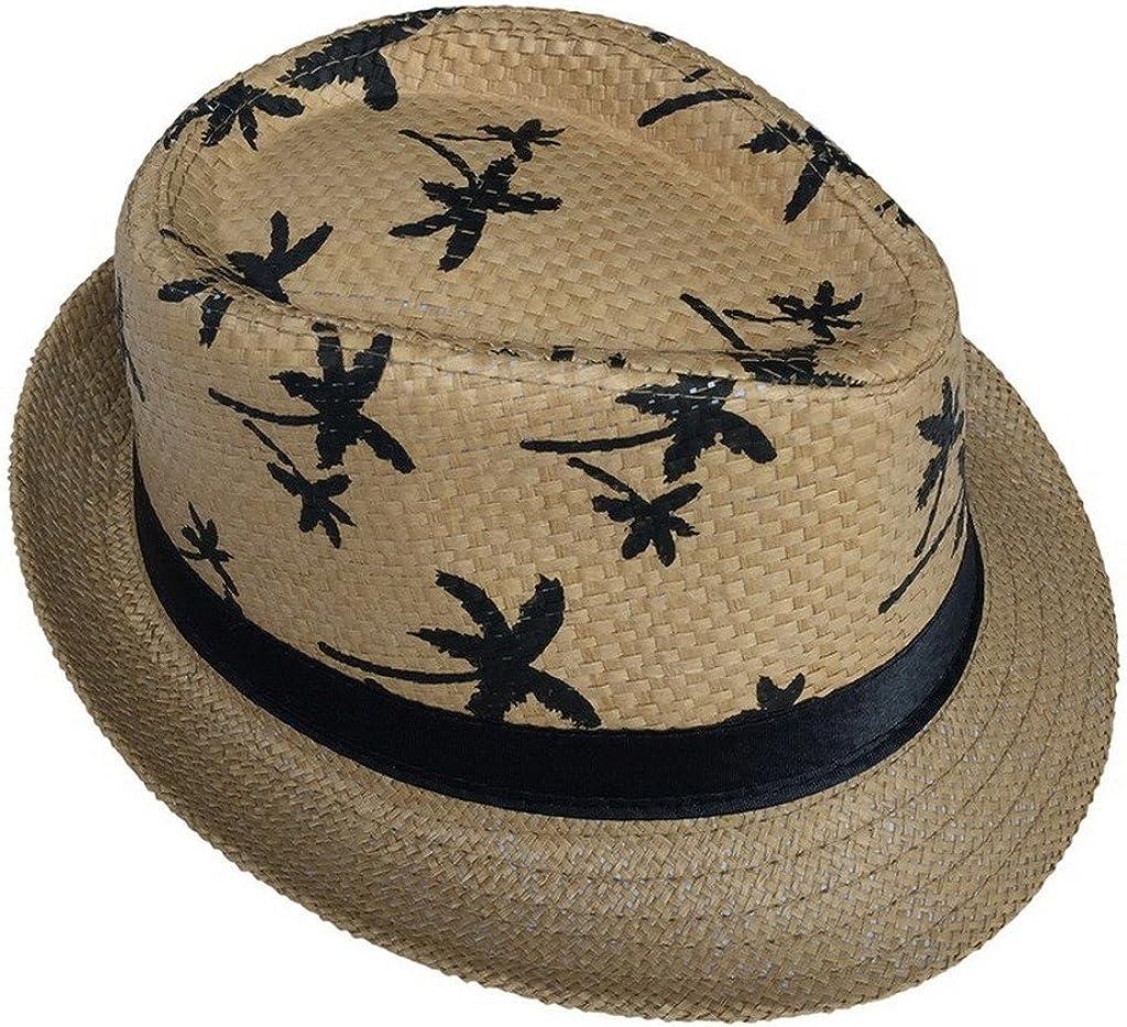 Woo2u Hawaii Straw Hat Summer Beach Outdoor Bucket Sun Bowler Knitted Hat