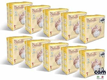 Ofertas a ensamblados pañales Cam batuffi (10 paquetes (Talla 3)