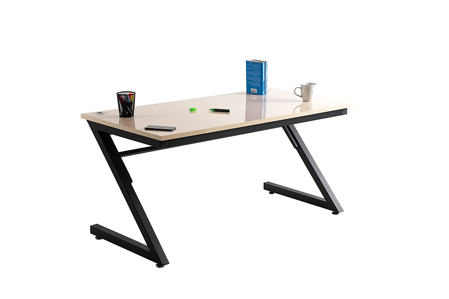 Writeyboard dry erase desk home study table computer desk for office wooden furniture writing workstation fineboard creative surface birchwood black